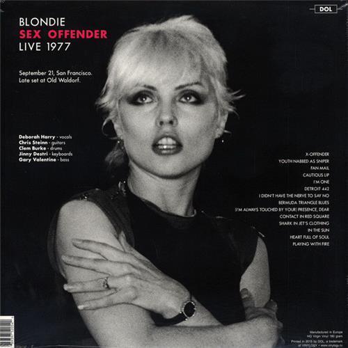 Картинка  Виниловые пластинки  Blondie – Sex Offender Live 1977 / DOR2054H / Sealed в  Vinyl Play магазин LP и CD   07339 1