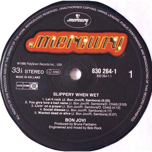 Картинка  Виниловые пластинки  Bon Jovi – Slippery When Wet / 830 264-1 в  Vinyl Play магазин LP и CD   06218 4