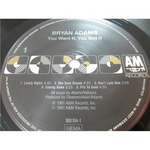Картинка  Виниловые пластинки  Bryan Adams – You Want It, You Got It / 393 154-1 в  Vinyl Play магазин LP и CD   03374 2