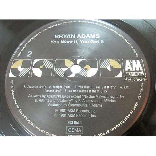 Картинка  Виниловые пластинки  Bryan Adams – You Want It, You Got It / 393 154-1 в  Vinyl Play магазин LP и CD   03374 3
