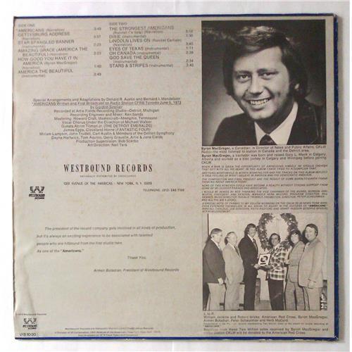 Картинка  Виниловые пластинки  Byron MacGregor – Americans / WB 1000 в  Vinyl Play магазин LP и CD   05622 1