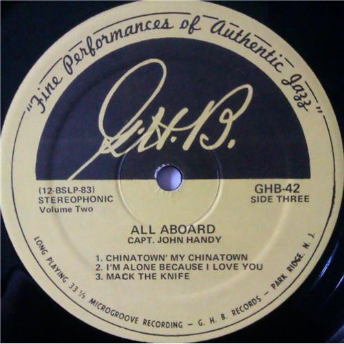 Картинка  Виниловые пластинки  Capt. John Handy – All Aboard (Volume 2) / GHB-42 в  Vinyl Play магазин LP и CD   04202 2