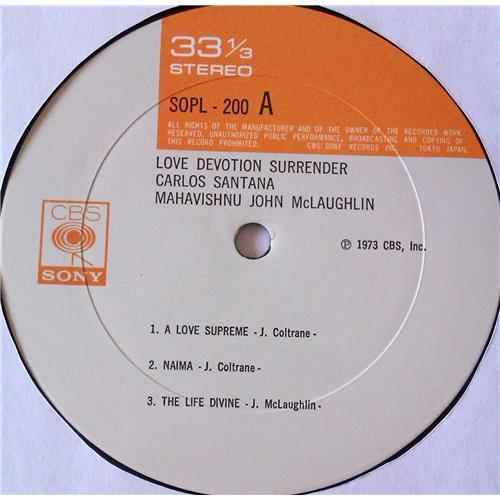 Картинка  Виниловые пластинки  Carlos Santana, Mahavishnu John McLaughlin – Love Devotion Surrender / SOPL 200 в  Vinyl Play магазин LP и CD   06821 6