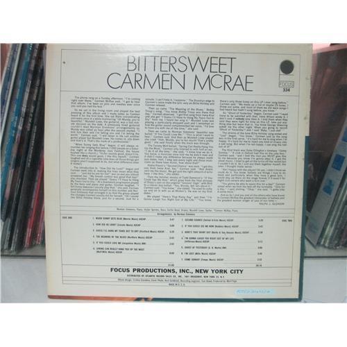 Картинка  Виниловые пластинки  Carmen McRae – Bittersweet / FOCUS 334 в  Vinyl Play магазин LP и CD   01643 1