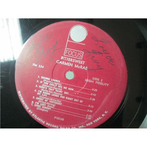 Картинка  Виниловые пластинки  Carmen McRae – Bittersweet / FOCUS 334 в  Vinyl Play магазин LP и CD   01643 2