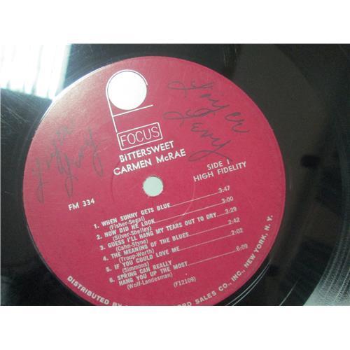 Картинка  Виниловые пластинки  Carmen McRae – Bittersweet / FOCUS 334 в  Vinyl Play магазин LP и CD   01643 3