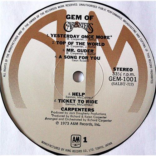 Картинка  Виниловые пластинки  Carpenters – Gem Of Carpenters / GEM 1001-2 в  Vinyl Play магазин LP и CD   07240 4