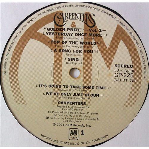 Картинка  Виниловые пластинки  Carpenters – Golden Prize Vol. 2 / GP 225 в  Vinyl Play магазин LP и CD   05576 2