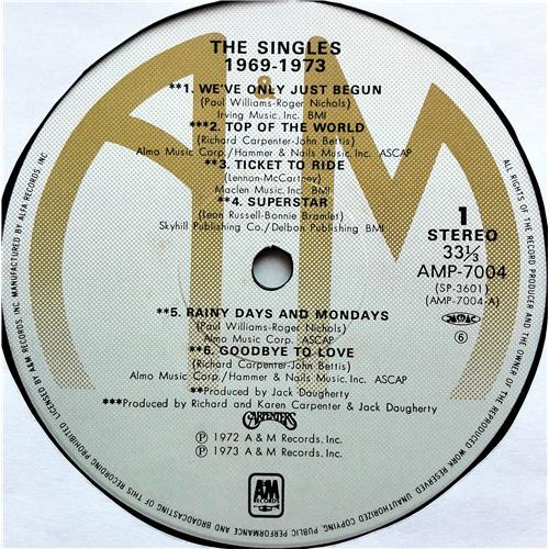 Картинка  Виниловые пластинки  Carpenters – The Singles 1969-1973 / AMP-7004 в  Vinyl Play магазин LP и CD   07740 7