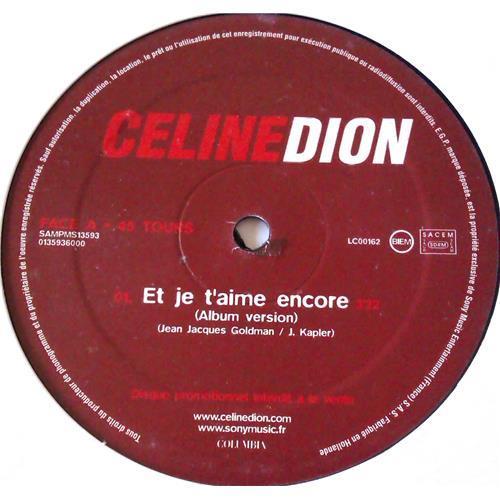 Картинка  Виниловые пластинки  Celine Dion – Et Je T'aime Encore / SAMPMS 13593 в  Vinyl Play магазин LP и CD   05978 1