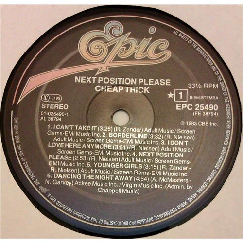 Картинка  Виниловые пластинки  Cheap Trick – Next Position Please / EPC 25490 в  Vinyl Play магазин LP и CD   04788 4