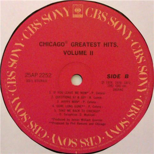 Картинка  Виниловые пластинки  Chicago – Greatest Hits, Volume II / 25AP 2252 в  Vinyl Play магазин LP и CD   04447 7