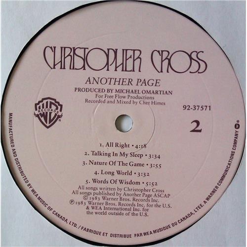 Картинка  Виниловые пластинки  Christopher Cross – Another Page / 92 37571 в  Vinyl Play магазин LP и CD   05013 5