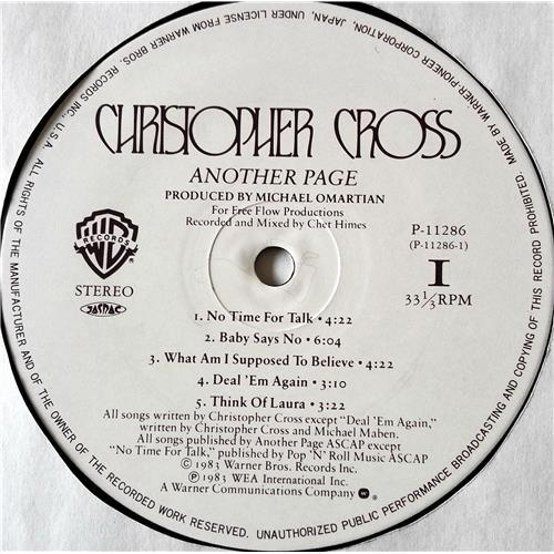 Картинка  Виниловые пластинки  Christopher Cross – Another Page / P-11286 в  Vinyl Play магазин LP и CD   07436 6