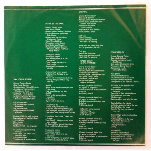 Картинка  Виниловые пластинки  Christopher Cross – Christopher Cross / BSK 3383 в  Vinyl Play магазин LP и CD   04416 2