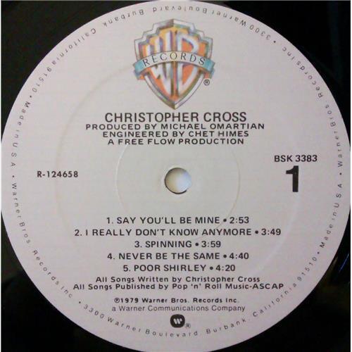 Картинка  Виниловые пластинки  Christopher Cross – Christopher Cross / BSK 3383 в  Vinyl Play магазин LP и CD   04416 4