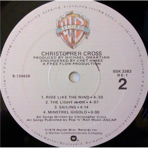 Картинка  Виниловые пластинки  Christopher Cross – Christopher Cross / BSK 3383 в  Vinyl Play магазин LP и CD   04416 5