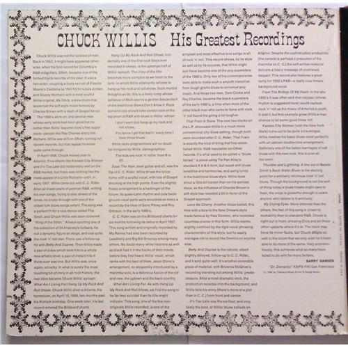Картинка  Виниловые пластинки  Chuck Willis – His Greatest Recordings / SD 33-373 в  Vinyl Play магазин LP и CD   05505 1