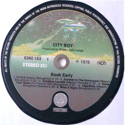 Картинка  Виниловые пластинки  City Boy – Book Early / 6360 163 в  Vinyl Play магазин LP и CD   04775 4
