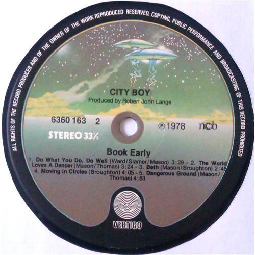 Картинка  Виниловые пластинки  City Boy – Book Early / 6360 163 в  Vinyl Play магазин LP и CD   04775 5
