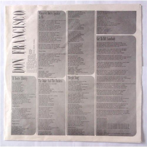 Картинка  Виниловые пластинки  Don Francisco – Got To Tell Somebody / NP33071 в  Vinyl Play магазин LP и CD   04894 2
