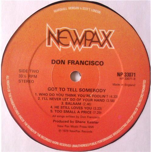 Картинка  Виниловые пластинки  Don Francisco – Got To Tell Somebody / NP33071 в  Vinyl Play магазин LP и CD   04894 5