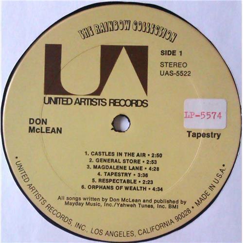 Картинка  Виниловые пластинки  Don McLean – Tapestry / UAS-5522 в  Vinyl Play магазин LP и CD   04723 4