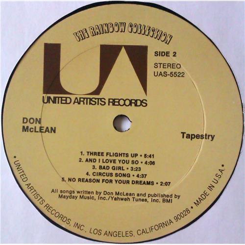 Картинка  Виниловые пластинки  Don McLean – Tapestry / UAS-5522 в  Vinyl Play магазин LP и CD   04723 5