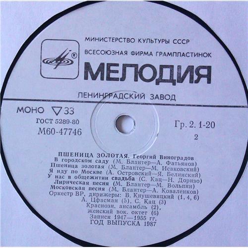 Картинка  Виниловые пластинки  Георгий Виноградов – Пшеница Золотая / М60 47745 008 в  Vinyl Play магазин LP и CD   05183 3