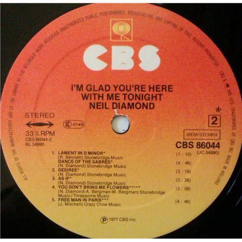 Картинка  Виниловые пластинки  Neil Diamond – I'm Glad You're Here With Me Tonight / CBS 86044 в  Vinyl Play магазин LP и CD   04374 5
