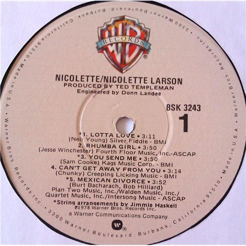Картинка  Виниловые пластинки  Nicolette Larson – Nicolette / BSK 3243 в  Vinyl Play магазин LP и CD   06977 4