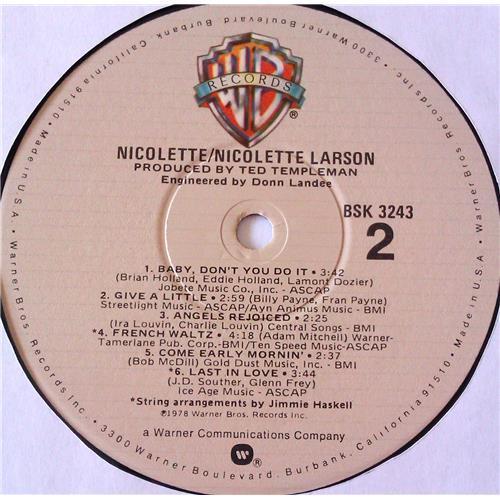Картинка  Виниловые пластинки  Nicolette Larson – Nicolette / BSK 3243 в  Vinyl Play магазин LP и CD   06977 5
