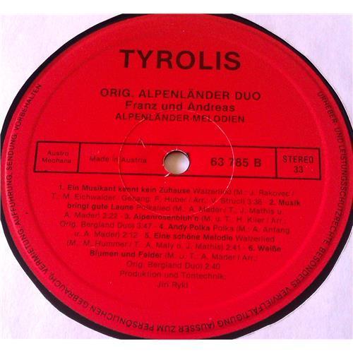 Картинка  Виниловые пластинки  Orig. Bergland Duo – Alpenlander - Melodien / 63 785 в  Vinyl Play магазин LP и CD   06686 3