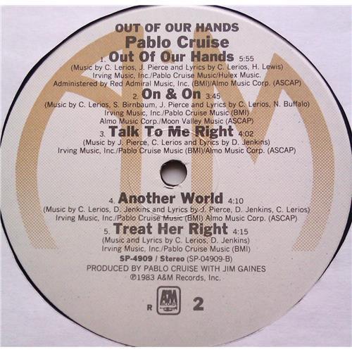 Картинка  Виниловые пластинки  Pablo Cruise – Out Of Our Hands / SP-4909 в  Vinyl Play магазин LP и CD   06214 5