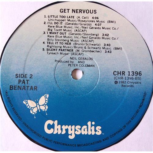 Картинка  Виниловые пластинки  Pat Benatar – Get Nervous / CHR 1396 в  Vinyl Play магазин LP и CD   05704 3