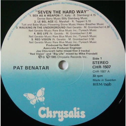 Картинка  Виниловые пластинки  Pat Benatar – Seven The Hard Way / CHR 1507 в  Vinyl Play магазин LP и CD   04387 4