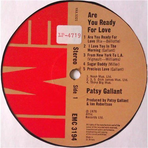 Картинка  Виниловые пластинки  Patsy Gallant – Are You Ready For Love / EMC 3194 в  Vinyl Play магазин LP и CD   04720 2