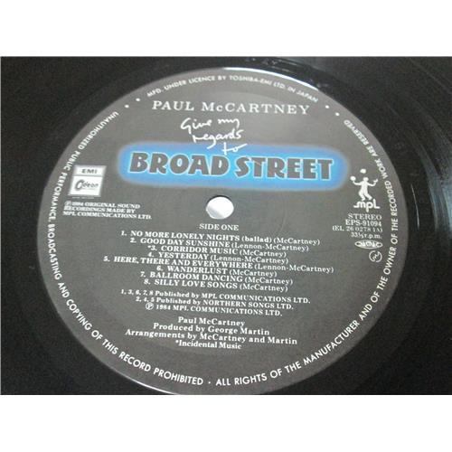 Картинка  Виниловые пластинки  Paul McCartney – Give My Regards To Broad Street / EPS-91094 в  Vinyl Play магазин LP и CD   03304 4