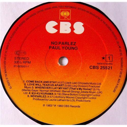 Картинка  Виниловые пластинки  Paul Young – No Parlez / CBS 25521 в  Vinyl Play магазин LP и CD   05917 4