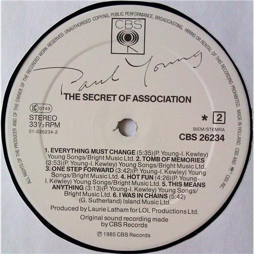 Картинка  Виниловые пластинки  Paul Young – The Secret Of Association / CBS 26234 в  Vinyl Play магазин LP и CD   04798 5