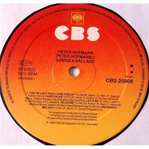 Картинка  Виниловые пластинки  Peter Hofmann – Peter Hofmann 2 - Ivory Man / Songs & Ballads / CBS 25908 в  Vinyl Play магазин LP и CD   06708 6