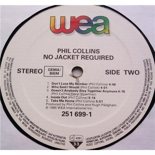 Картинка  Виниловые пластинки  Phil Collins – No Jacket Required / 251 699-1 в  Vinyl Play магазин LP и CD   06212 5