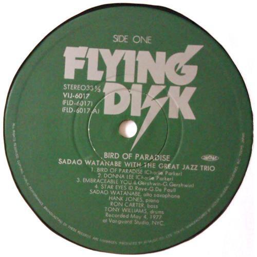 Картинка  Виниловые пластинки  Sadao Watanabe – Bird Of Paradise / VIJ-6017 в  Vinyl Play магазин LP и CD   04598 3