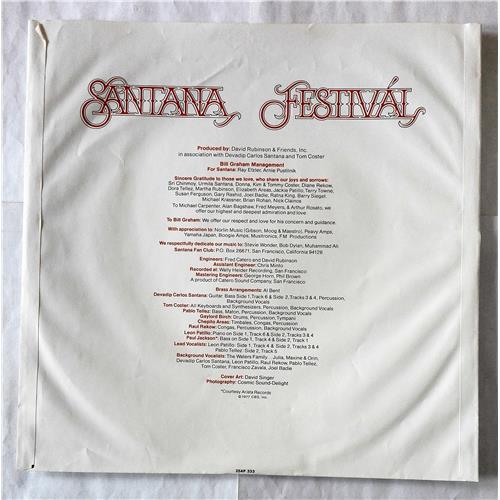Картинка  Виниловые пластинки  Santana – Festival / 25AP 333 в  Vinyl Play магазин LP и CD   07440 5