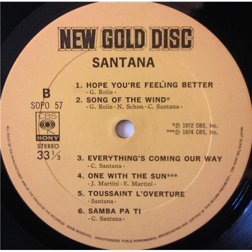 Картинка  Виниловые пластинки  Santana – Santana / SOPO 57 в  Vinyl Play магазин LP и CD   04196 5