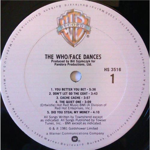 Картинка  Виниловые пластинки  The Who – Face Dances / HS 3516 в  Vinyl Play магазин LP и CD   03821 4