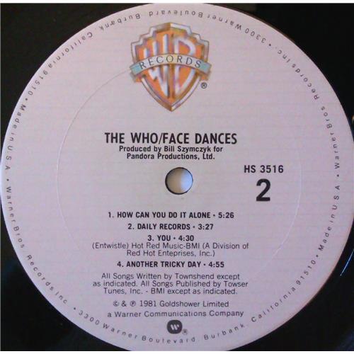Картинка  Виниловые пластинки  The Who – Face Dances / HS 3516 в  Vinyl Play магазин LP и CD   03821 5