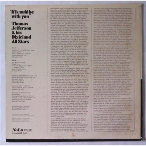 Картинка  Виниловые пластинки  Thomas Jefferson & His Dixieland All Stars – 'If I Could Be With You' / LP 645 в  Vinyl Play магазин LP и CD   04325 1