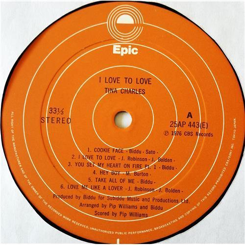 Картинка  Виниловые пластинки  Tina Charles – I Love To Love / 25AP 443 в  Vinyl Play магазин LP и CD   07674 4