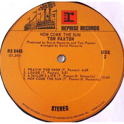 Картинка  Виниловые пластинки  Tom Paxton – How Come The Sun / RS 6443 в  Vinyl Play магазин LP и CD   06166 3